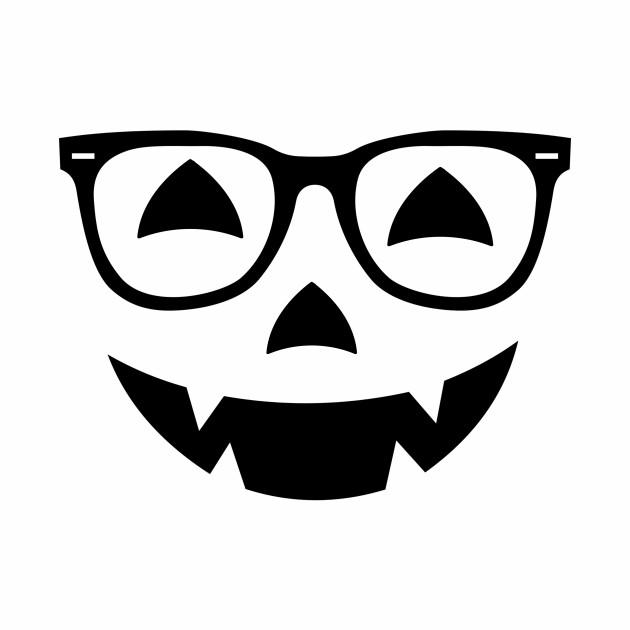 Nerd Jack O Lantern Face Glasses