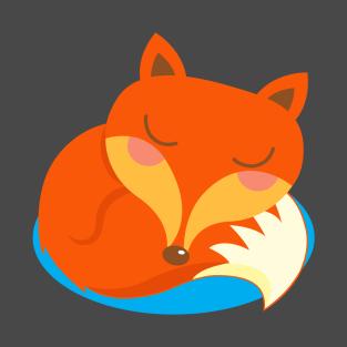shhh... Fox is sleeping. t-shirts