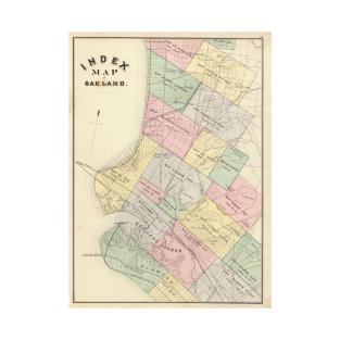 Oakland ca t shirts teepublic vintage map of oakland california 1878 t shirt publicscrutiny Image collections