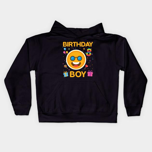 Kids Emoji 8th Birthday Boy T Shirt Fun 8 Years Old Gift Hoodie