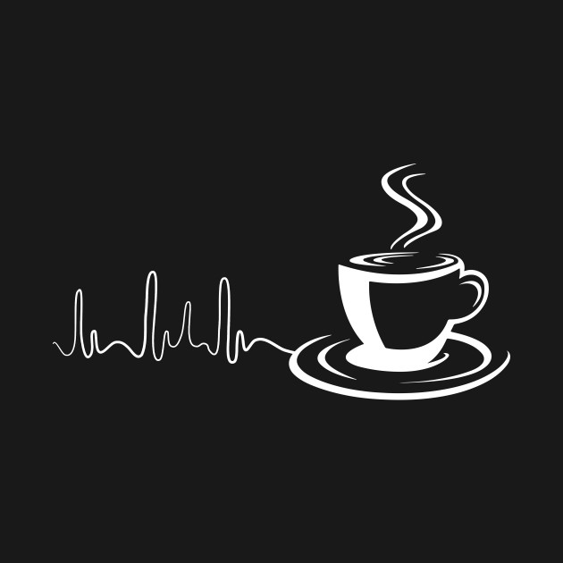 Coffee Heartbeat Awesome Coffee Lover Gift