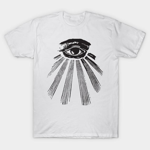 All-Seeing Eye Providence 666 Illuminati Nwo Conspiracy Theory Illuminati  T-Shirts