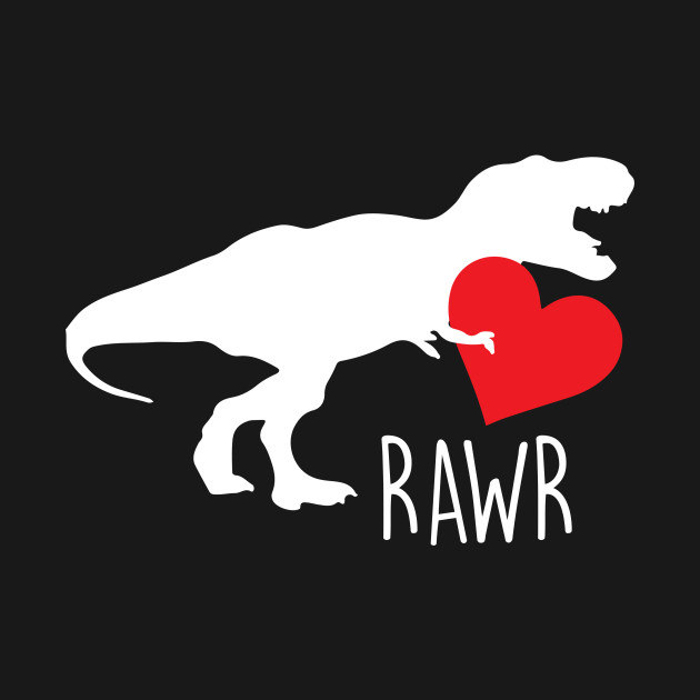 Cute T-Rex Rawr Heart Valentine's Day Love