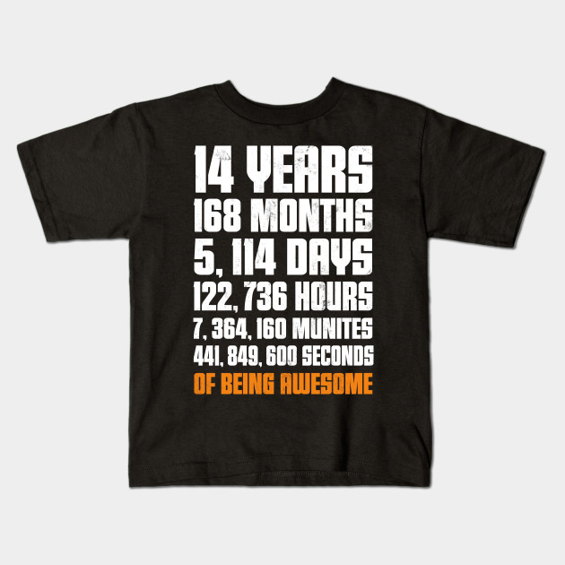 14th Birthday Gift T Shirt 14 Years Old Being Awesome Tee