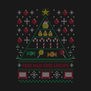 Elf Food Pyramid Holiday Sweater t-shirts