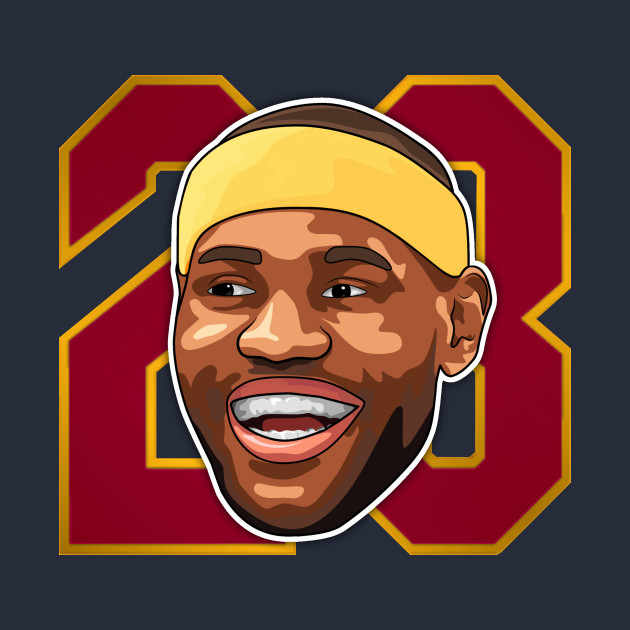 "LeBron James Cartoon Face ""23"" Wine"