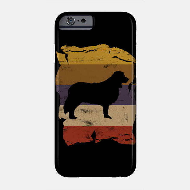 Border Collie Distressed Vintage Retro Silhouette Phone Case
