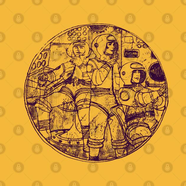 60s Spacemen Illustration Design