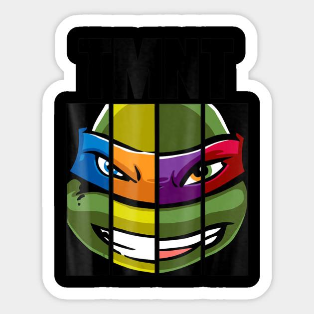 Teenage Mutant Ninja Turtles Face Mash Up T Shirt Teenage Mutant