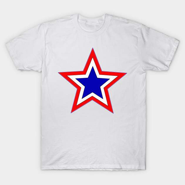 06dde9d4 red white and blue star - Red White And Blue Star - T-Shirt | TeePublic