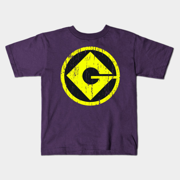 Gru Monogram Distress Despicable Me Kids T Shirt Teepublic