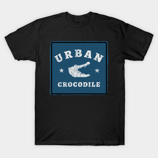 Urban crocodile vintage blue
