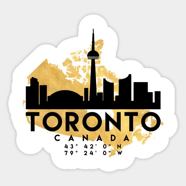 Toronto Canada Skyline Map Art