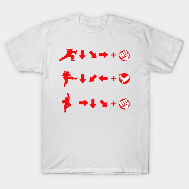 Street Fighter Moves Ryu Street Fighter T Shirt Teepublic