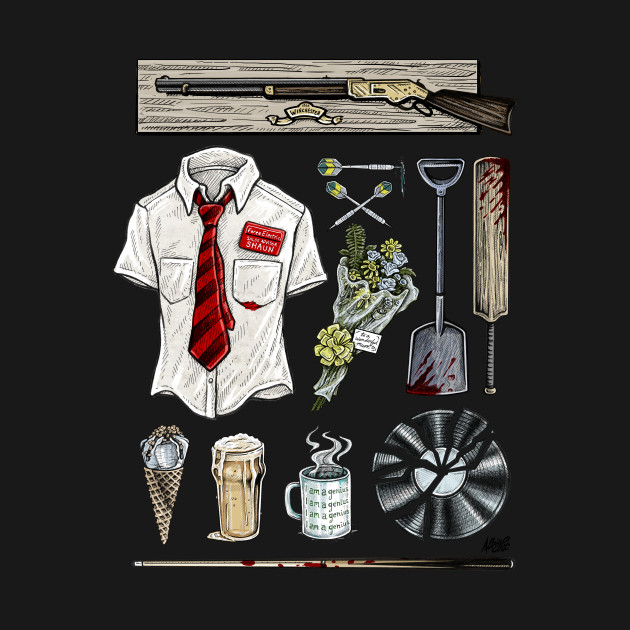 Shaun of the Dead Movie Props