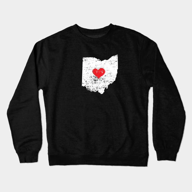 3 Ohio State Map T Shirt For Men Women And Kids Ohio Crewneck