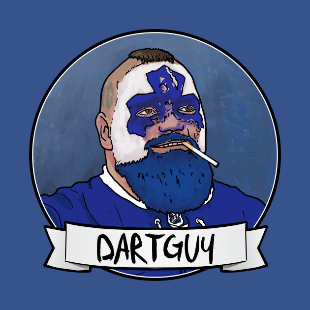 DartGuy DartMan Leafs Fan Hockey T-shirt T-Shirts & Hoodies
