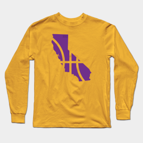 470fb796f Los Angeles Lakers Basketball Long Sleeve T-Shirt
