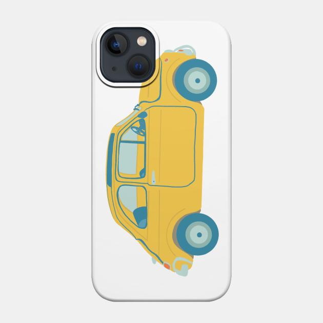 Yellow Italian car