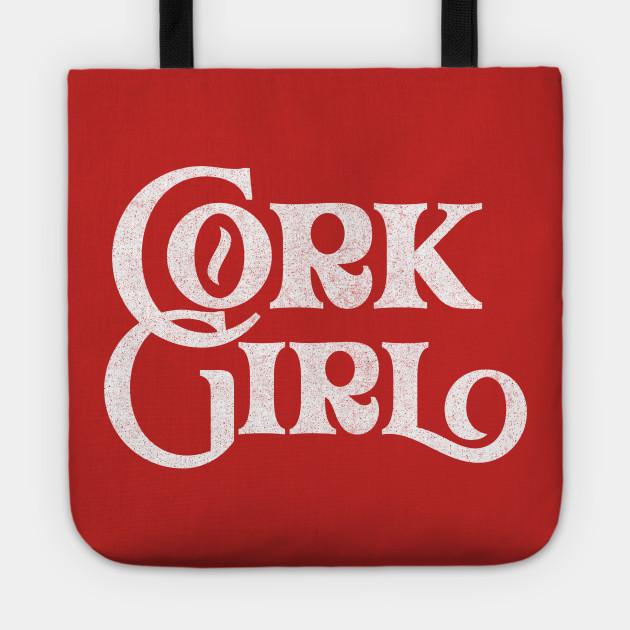 Cork Girl / Retro Style Typography Apparel