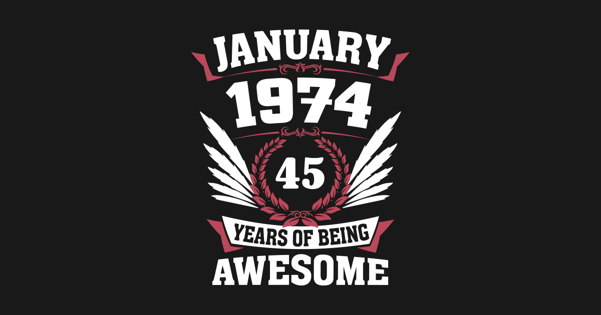 Made in 1974-45 Years of Being Awesome Adult Crewneck Sweatshirt