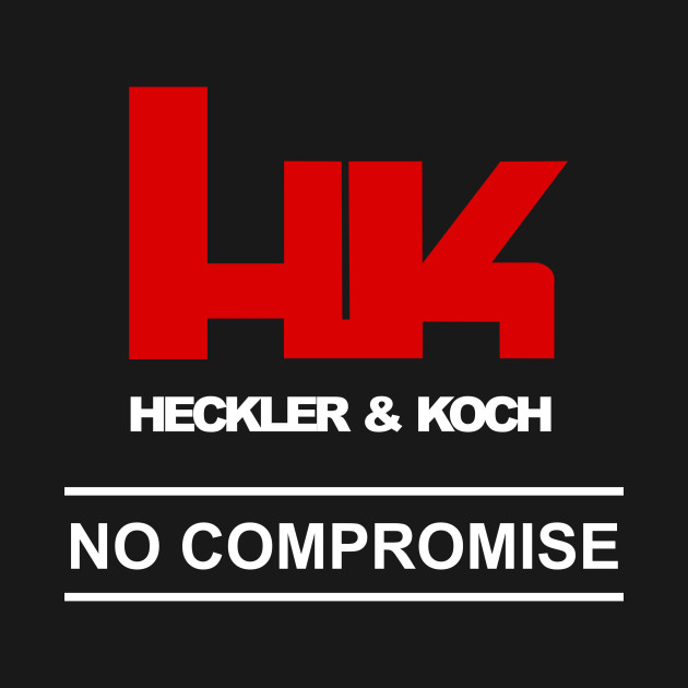 hk logo heckler & koch firearms no compromise - funny - kids t