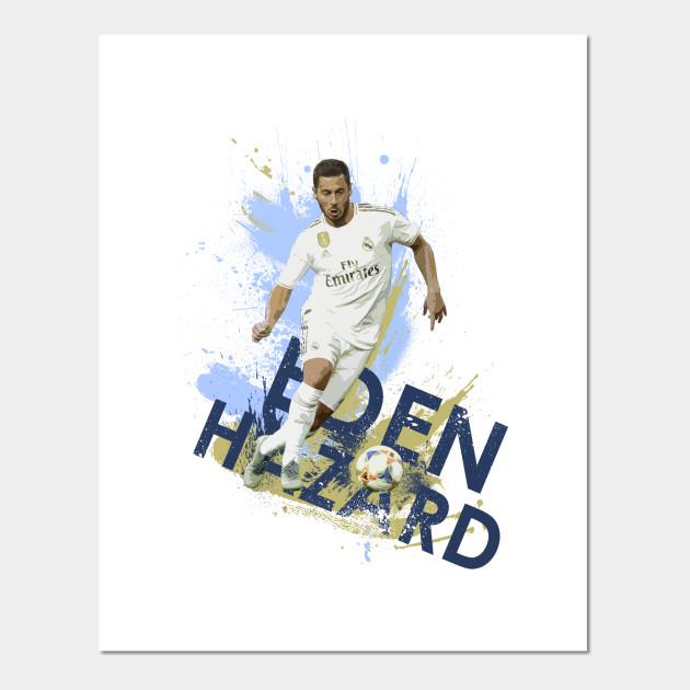 Eden Hazard Football Large Wall Art Poster Print