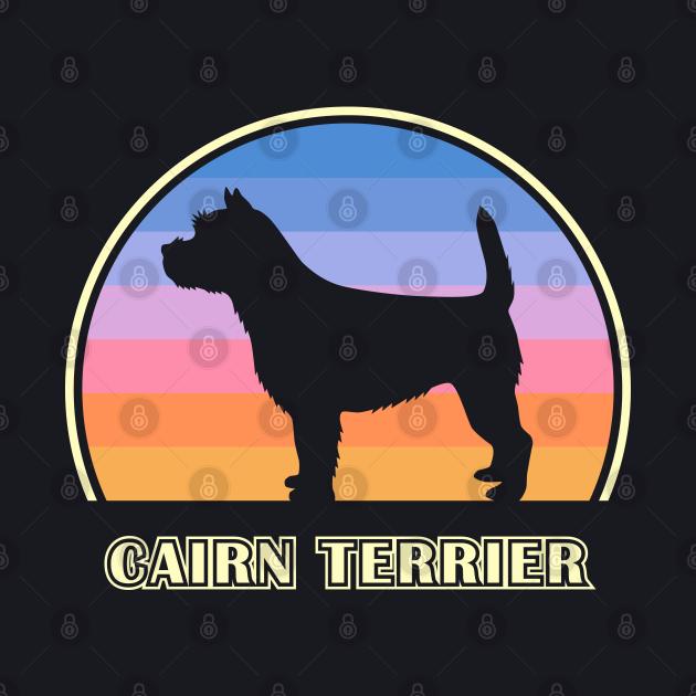 Cairn Terrier Vintage Sunset Dog