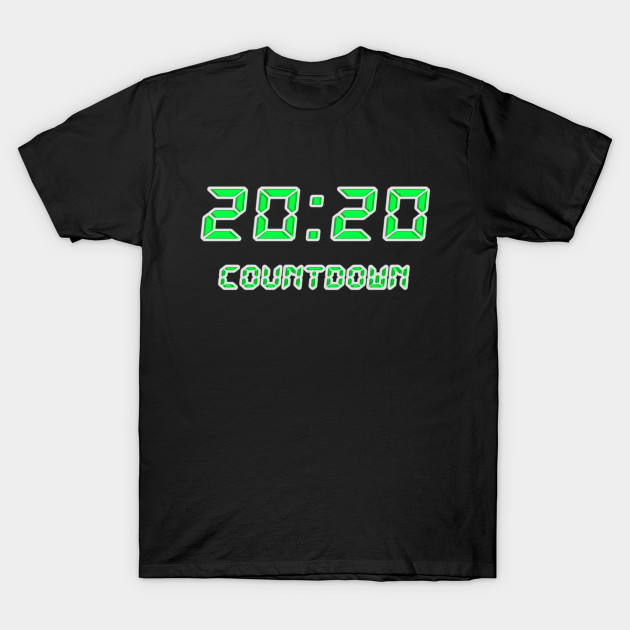 2020 countdown clock neon green T-Shirt