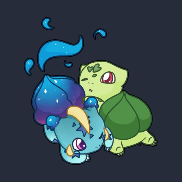 Nebbysaur and Bulbasaur T-Shirt