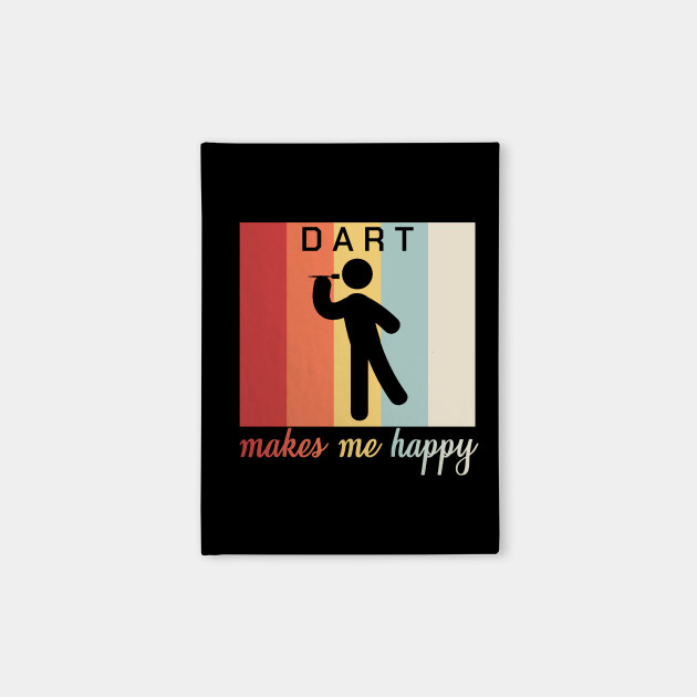 Dart Makes Me Happy Funny Dartplayer Retro Gift