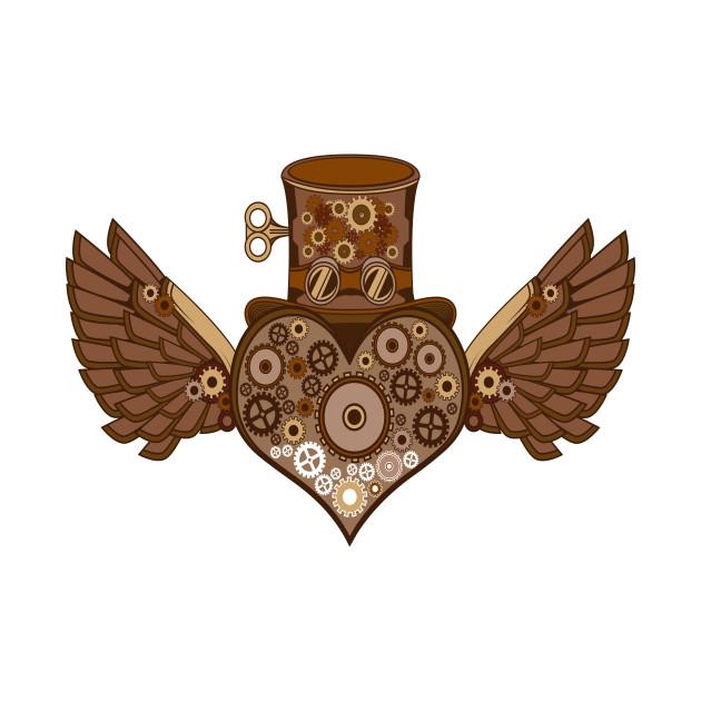 Steampunk Heart Wing Cylinder Mechanics