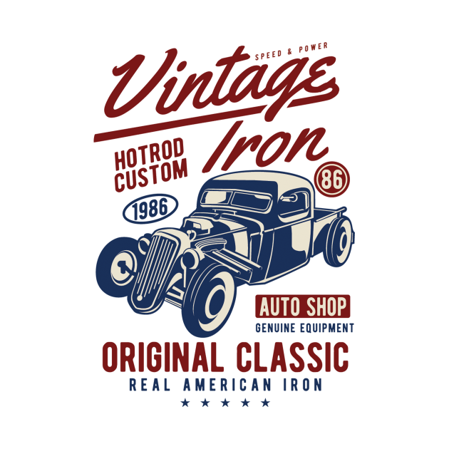 Vintage iron original classic - Awesome vintage car lover Gift