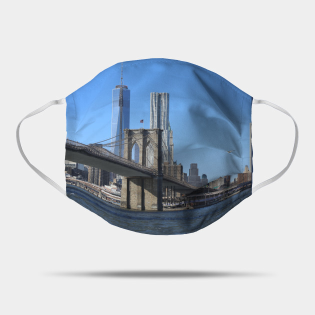 Brooklyn Bridge with Manhattan Skyline Mask