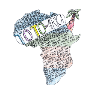 Toto - Africa (w/ Complete Lyrics and Original Artwork) t-shirts