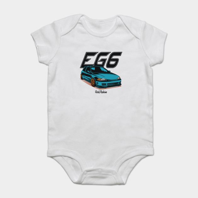 Civic Eg6 Blue Honda Onesie Teepublic
