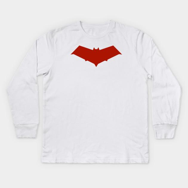 Red Hood Symbol League Of Shadows Kids Long Sleeve T Shirt