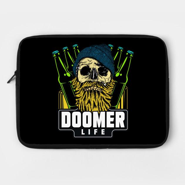 Life As A Doomer Doomer Laptop Case Teepublic