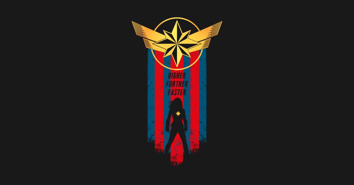 ea806cd4eb8 Higher Further Faster - Captain Marvel - T-Shirt