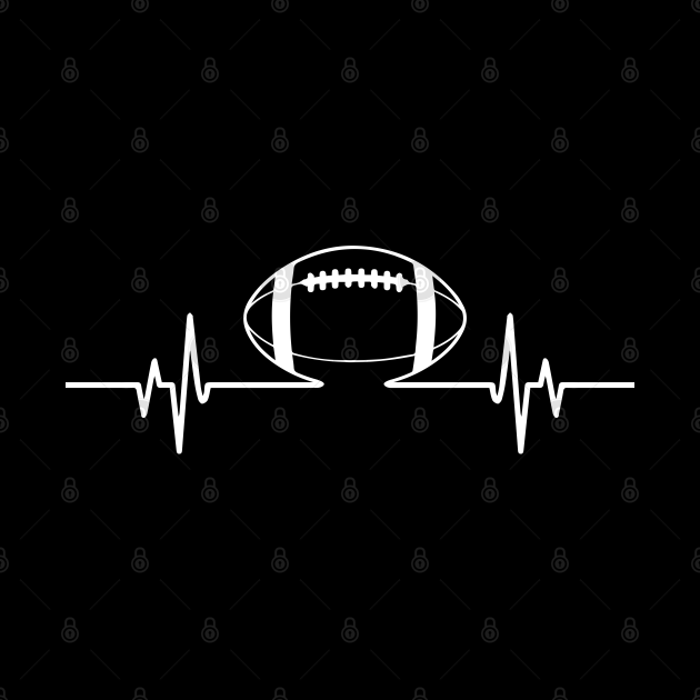 Cool American Football Heartbeat for Gift