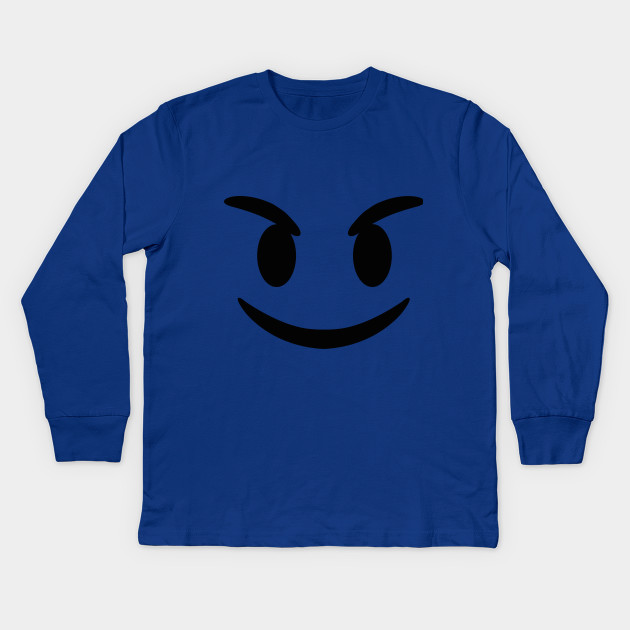 03129c97 Evil Devil Emoji T-Shirt - Emoji - Kids Long Sleeve T-Shirt | TeePublic