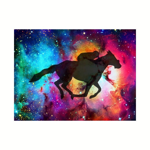 Galaxy Horse Race Horse Race Baseball T Shirt Teepublic