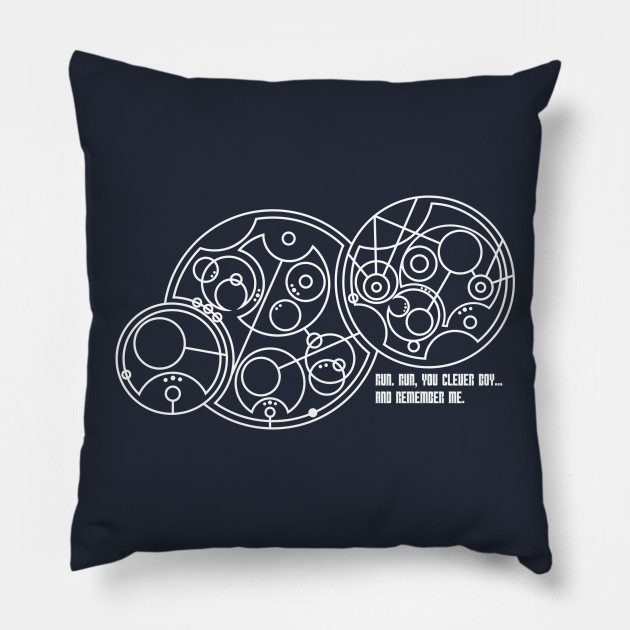 Run You Clever Boy Doctor Who Pillow Teepublic