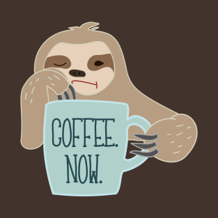 Sloth Needs Coffee t-shirts