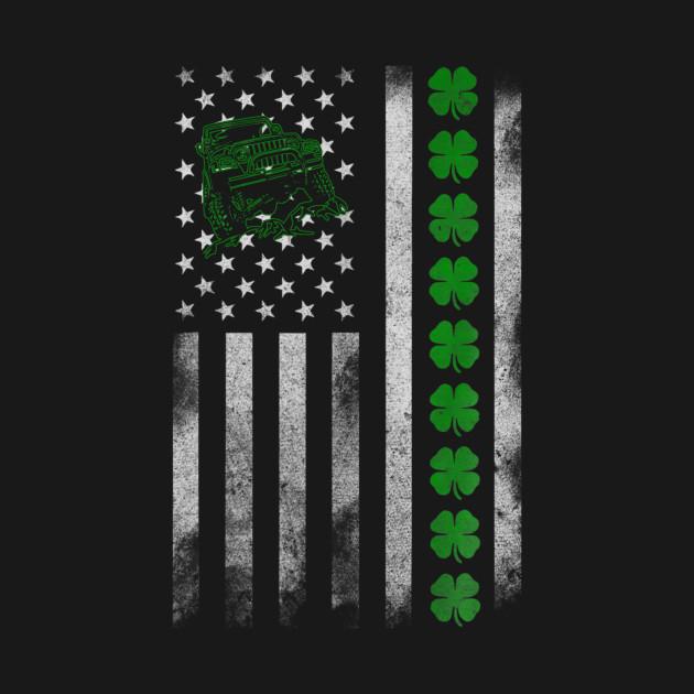 Jeep American Flag Jeep Shamrock Irish Patrick Day