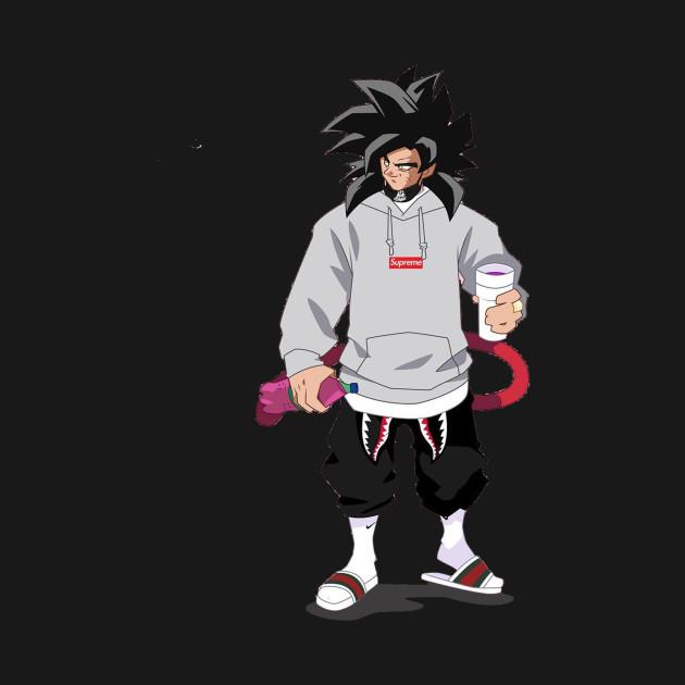 b28db6459ac7 SSJ4 Goku x Supreme - Dragon Ball - T-Shirt