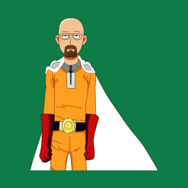 one punch man breaking bad cross over man t shirt teepublic