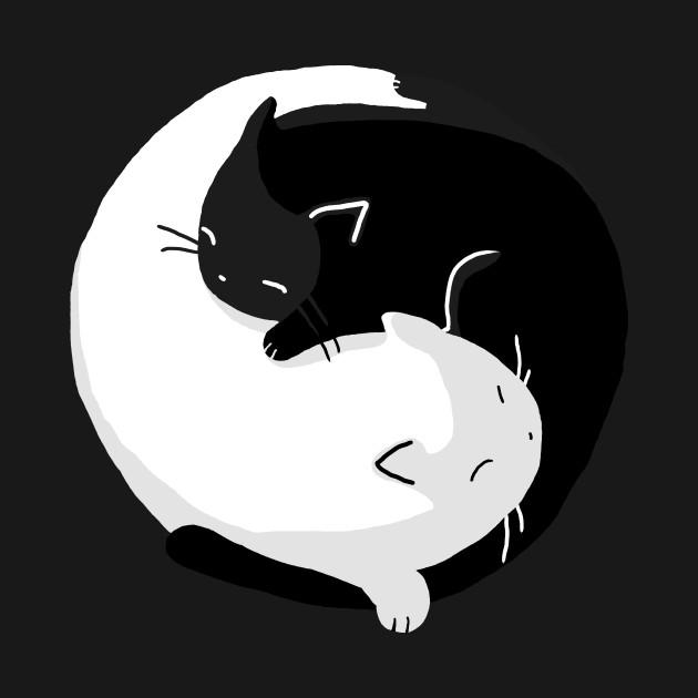 коты инь янь арт кошек источники