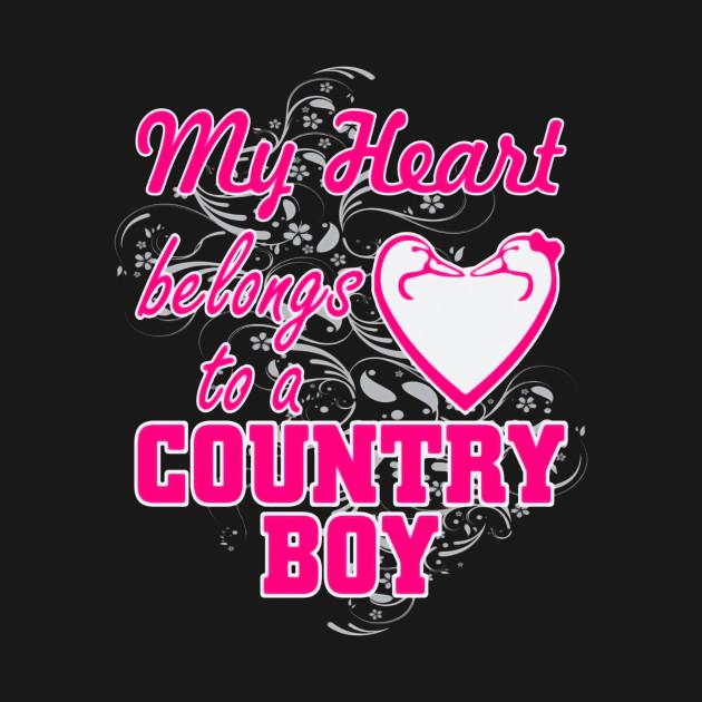 My Heart Belongs To A Country Boy T Shirt Thanksgiving Crewneck