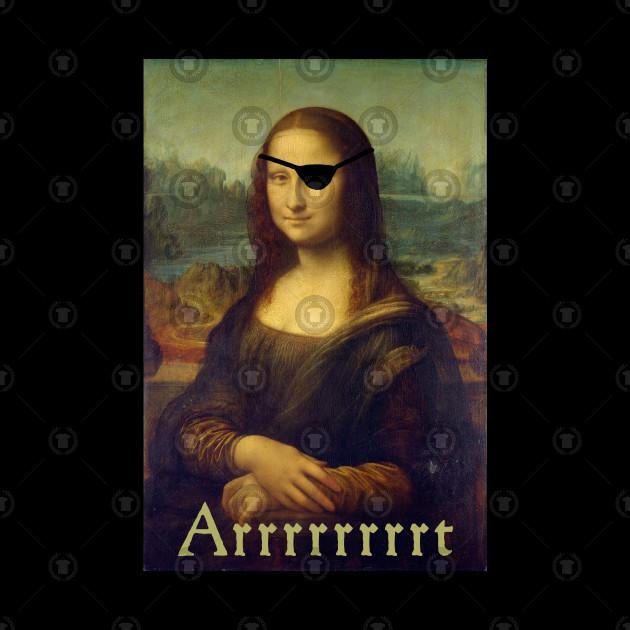 f1bb3da68 Mona Lisa, Funny Art Pirate T-Shirt - Mona Lisa - Tapestry | TeePublic